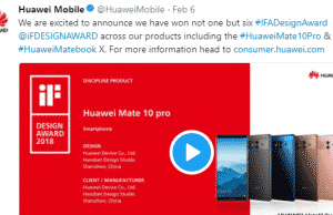 Six products of Huwai has bagged the iF Product Design Award