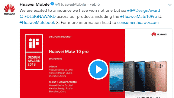 Six products of Huawei has bagged the iF Product Design Award
