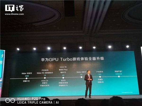 List of Huawei Smartphones to get the GPU Turbo